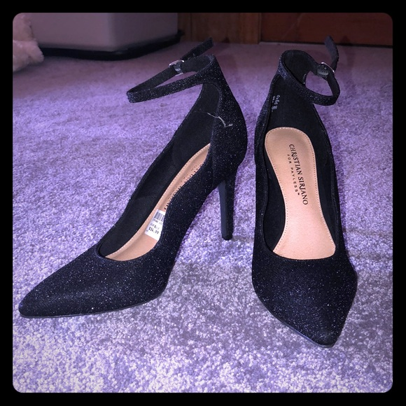 Christian Siriano Shoes - Black Heels w/ Ankle Strap